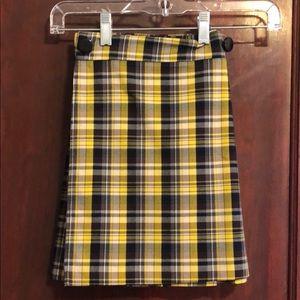 Pleated plaid skirt!